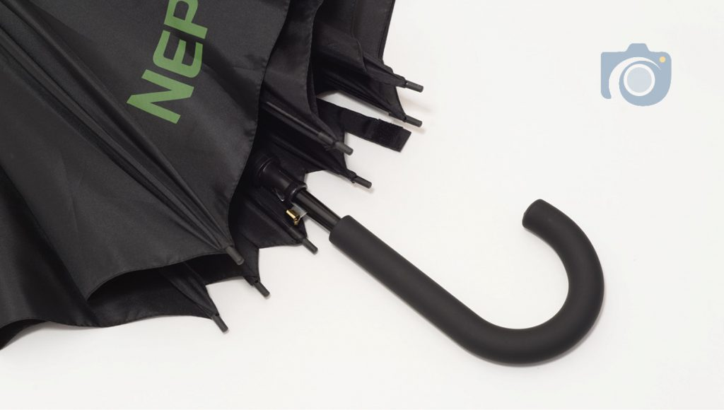 Product photos of branded umbrellas