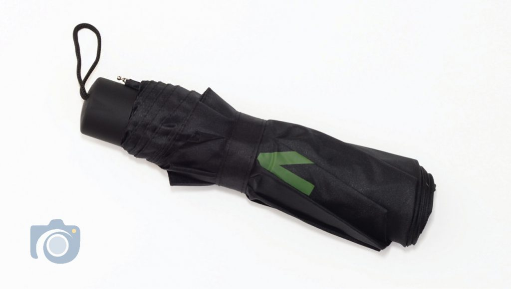 Watford Photographers branded closed umbrella