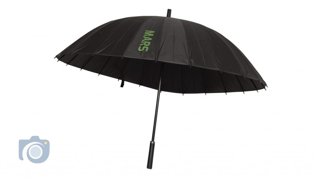 Product photo – Mars umbrella in up position by Watford Photographers