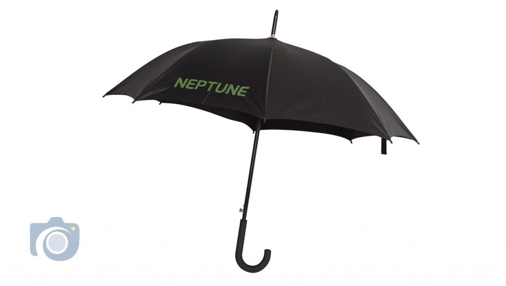 Product photoshoot of a series of branded umbrellas