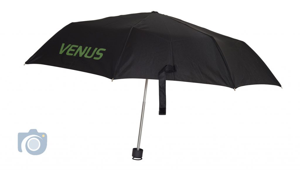 Product photo – Venus umbrella in up position, by Watford Photographers